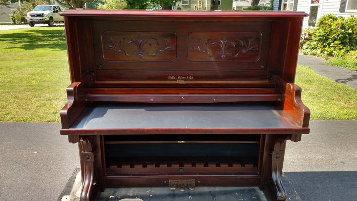 SOLD/EXAMPLE: Mahogany & Stainless Piano by DejaVuPianoFurniture