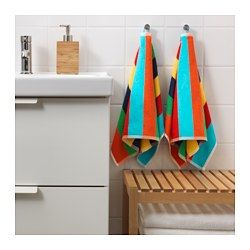 IKEA - BOKVIK, Hand towel, A terry towel in medium thickness that is soft and highly absorbent (weight 500 g/m²).The long, fine fibres of combed cotton create a soft and durable towel.