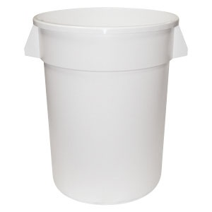 Continental 3200WH 32 Gallon White Huskee Trash Can