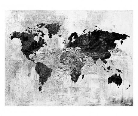 Tablou Gold Worldmap