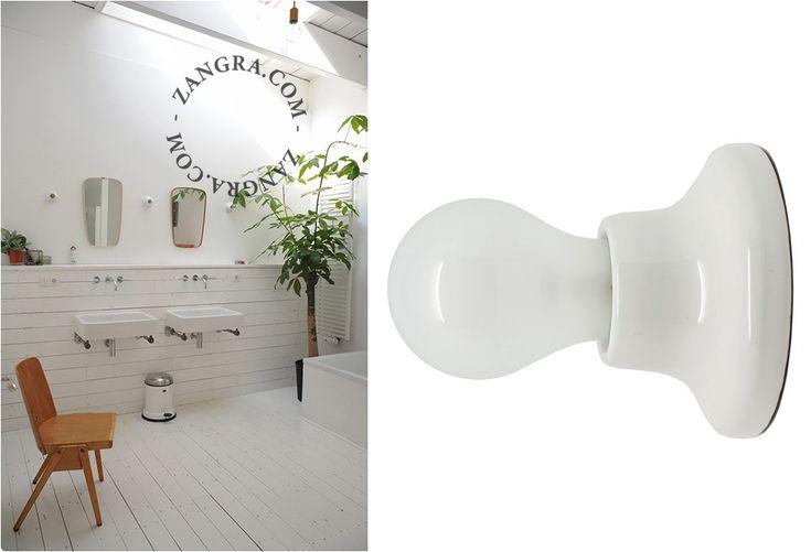 lampe en porcelaine blanche 001