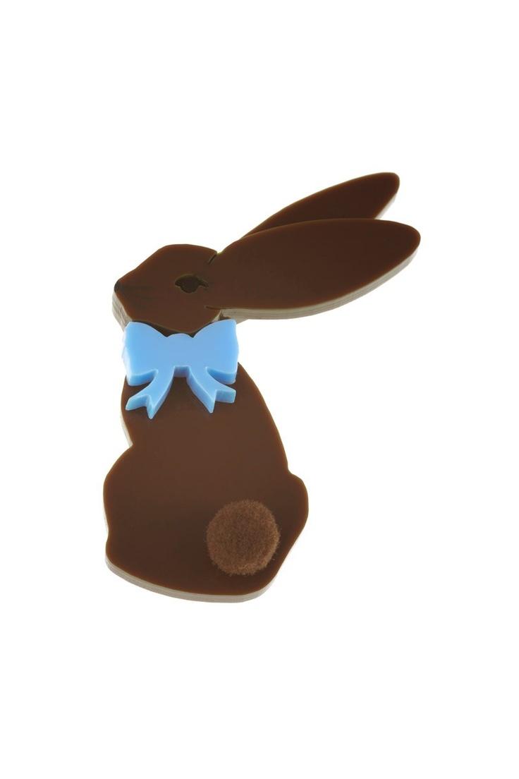 chocolate brown bunny brooch, tatty devine £24