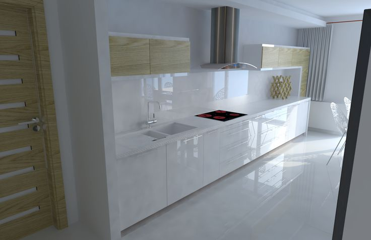 White kitchen, modern design.