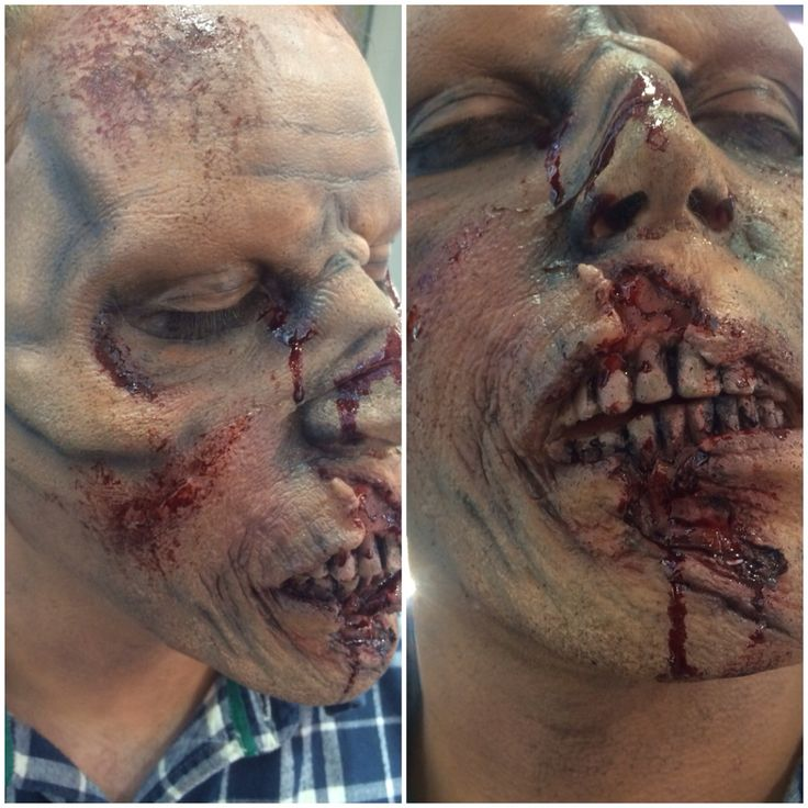 Halloween makeup I used some prosthetics as well as mac makeup products .