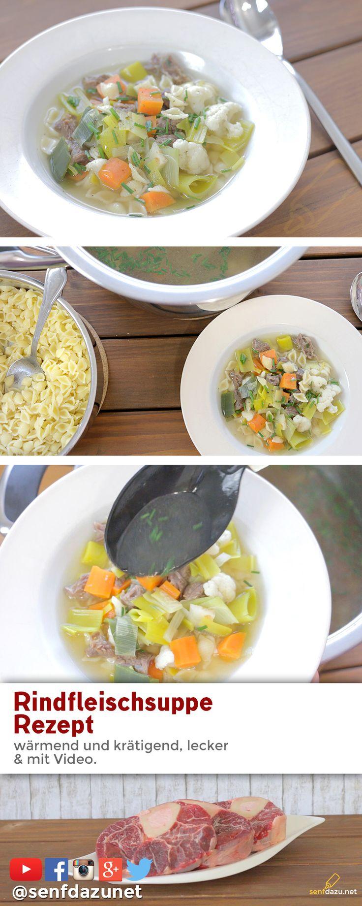 Heute gibt es eine leckere Rindfleischsuppe mit frischem Gemüse und Beinscheibe. Im Video habe ich versucht, Euch das Rezept so einfach und attraktiv wie möglich zu präsentieren. Denn wie ich gehört habe, finden einige so Suppe zu kompliziert oder aufwendig. Nehmt Euch mal die paar Minuten und schaut mal das Video an. Die Suppe braucht zwar lange, aber man muss gar nicht dabei stehen bleiben und der Aufwand ist auch nicht groß.  Ich würde mich freuen, wenn ich es gesch