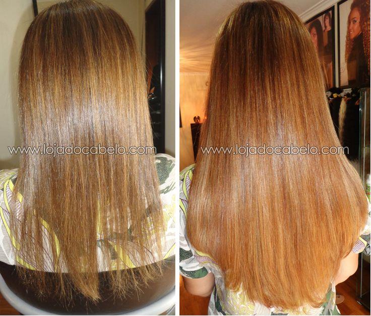 Porque é que alguém vem de Angola de propósito comprar o seu cabelo natural na Loja do Cabelo ? A foto fala por si...  200 gramas Cabelo indiano virgem de 60-65 cms solto - Método de Aplicação: Polímero de Queratina.  Loja do Cabelo - o melhor cabelo, o melhor resultado...