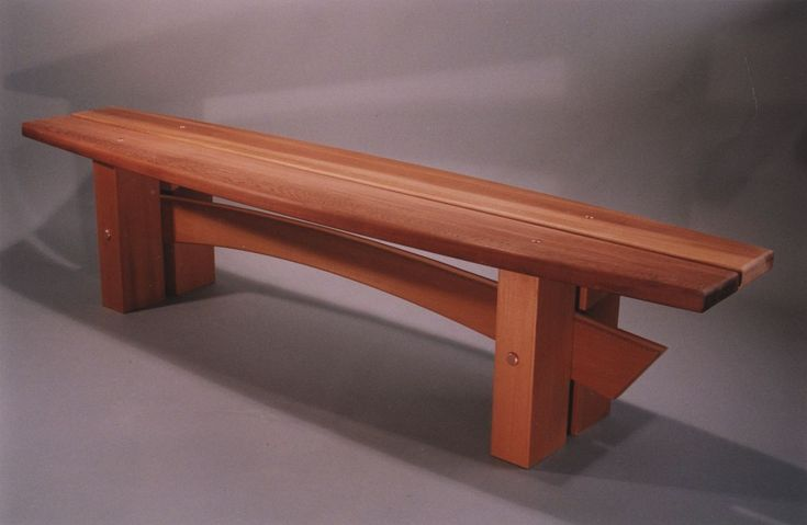 Handcrafted Classically Styled Japanese Garden or Indoor Wood Bench. $3,200.00, via Etsy.
