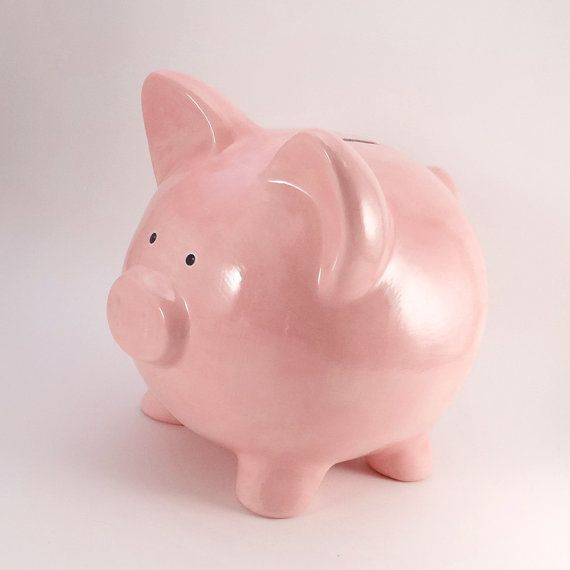 Pink Piggy Bank - Personalized Piggy bank - Old Fashioned Piggy Bank - Classic Personalized Piggy Bank - with hole or NO hole in bottom