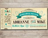 A PERFECT Save the Date Ticket Invitation for your Big day, rehearsal dinner or any other  party.