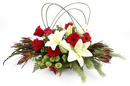 Christmas Flower Arrangements | Florist Choice Christmas Table Arrangement | Fair Hill Florist