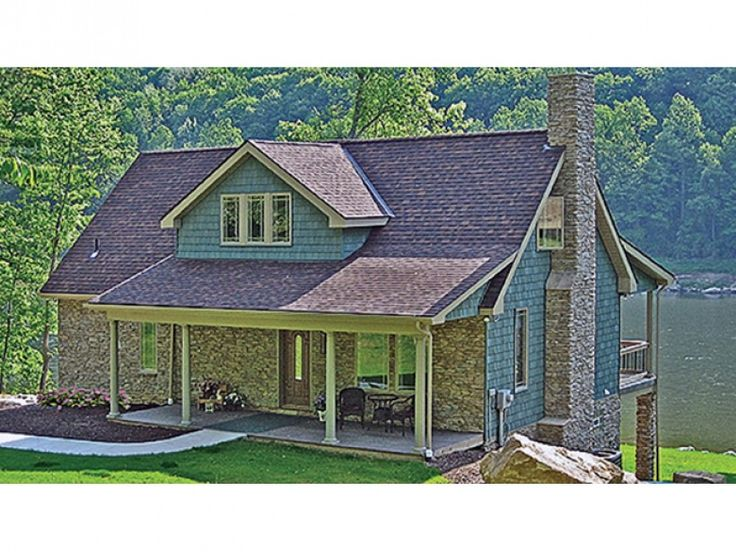 36 best sloping lot house plans images on pinterest lake for Craftsman style lake house plans