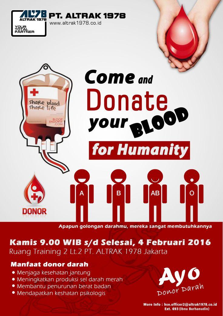 pamflet pamflet donor darah pt altrak 1978 pmi pt
