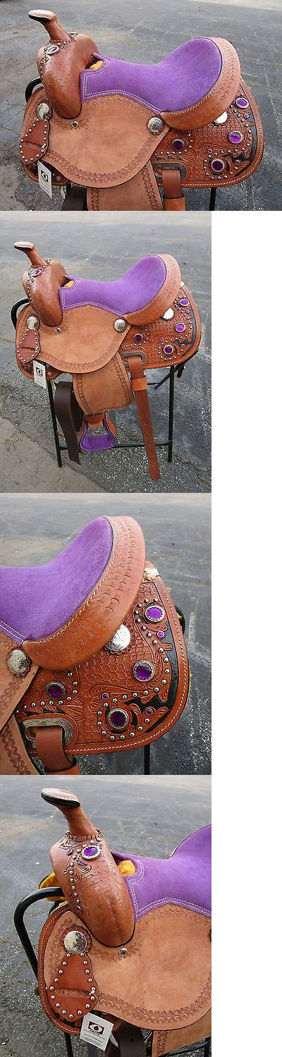 Saddles 47291: 12 13 Pony Show Youth Child Purple Cowgirl Pleasure Leather Western Horse Saddle -> BUY IT NOW ONLY: $197.99 on eBay!