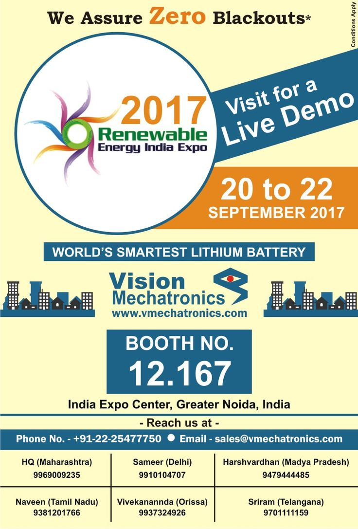 India is going to be the hub of the energy world for next 3 days. 30,000+ visitors are expected to attend Renewable Energy India Expo.  Please come and join us for Renewable Energy India Expo 2017.  Looking forward to your visit.  #renewableenergyindiaexpo #REI2017 #REI #MNRE #ISA #SCGJ #renewableenergy #visionmechatronics #energy #power #lithium #battery #backup #india