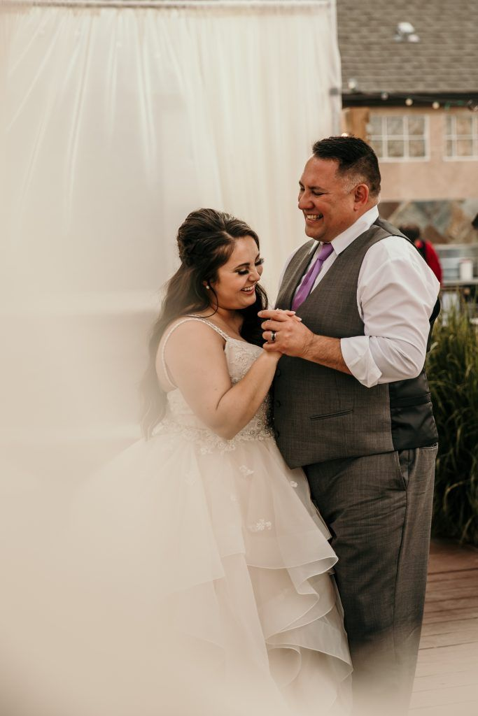 Gorgeous Shot Of The Bride Dancing With Her Father At An Elegant