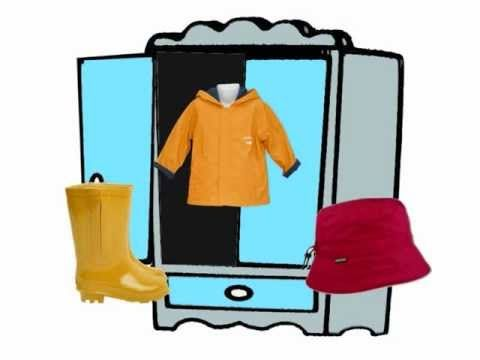 VÊTEMENTS - J'apprends le nom des vetements - well-done animations with clothing in French - you could play it without sound and have students tell you the name of the items.