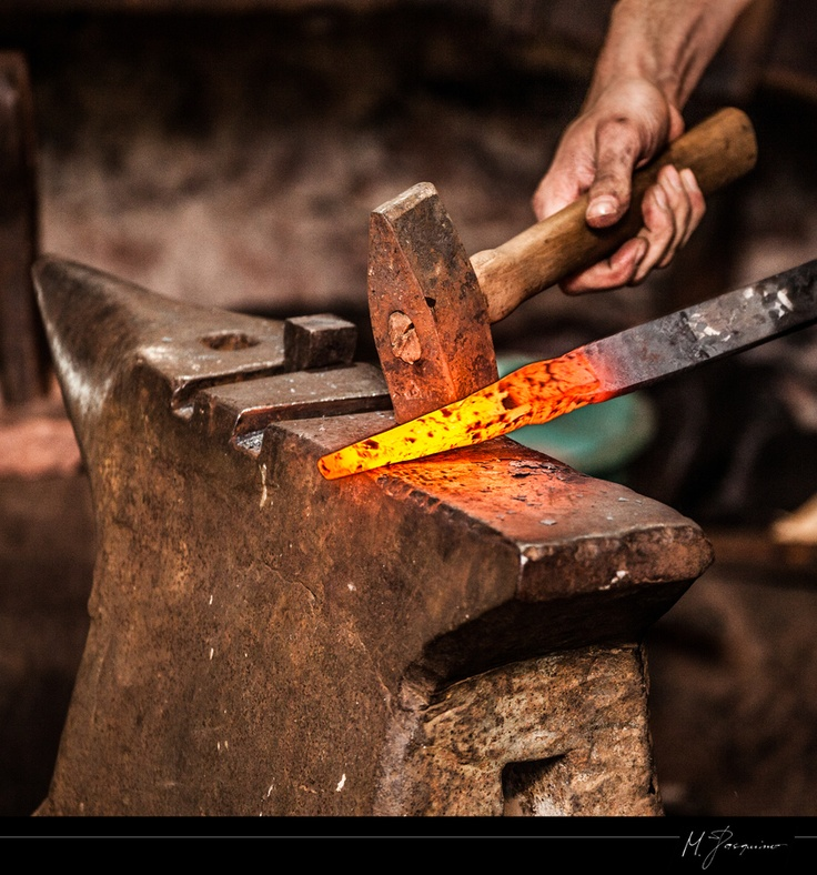 Reminds me of my Dad working at his forge repairing or making implements or tools for the farm.