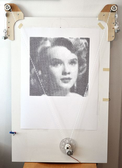 Anne Francis On Polargraph - Square Pixels | Flickr - Photo Sharing!