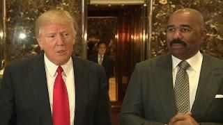 Steve Harvey Speaks Up After Receiving Backlash For Meeting With Donald Trump