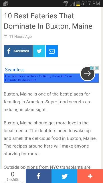 Ten best eateries that denominate in Buxton, Maine ■ http://exceptionmag.com/27346/10-best-eateries-that-dominate-in-buxton-maine/