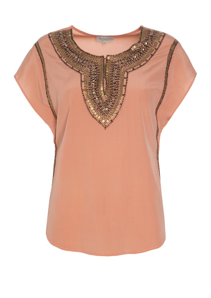 Florence top - Coral