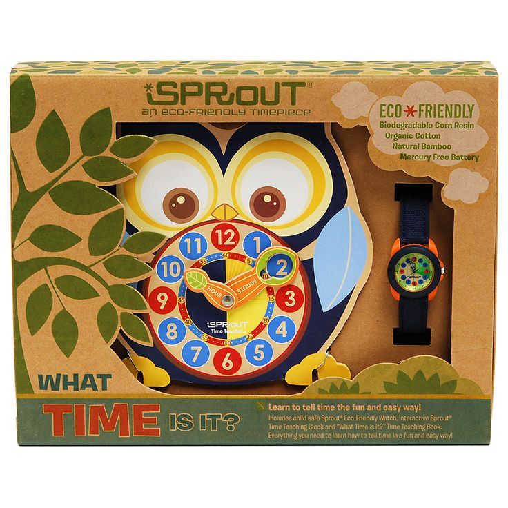 Teach your child how to tell the time the eco-friendly, fun and easy way with Sprouty the Owl.