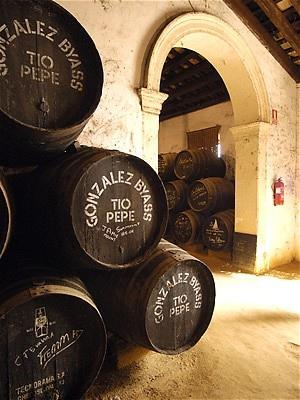 Tio Pepe wine cellar, Jerez de la Frontera. Bodegas Tio Pepe En Jerez de la Frontera Andalucia, Spain.