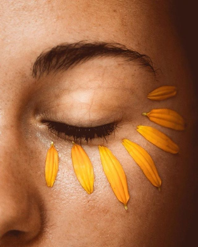 flower petal eyelashes