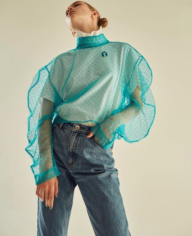 fashion_membrane blouse of oceanic excellence  from awake_uk instagram | Saved by Gabby Fincham |