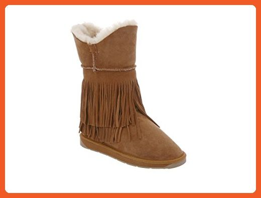 RJ's Fuzzies Women's Double Faced Fringe Sheepskin Boot 9 Chestnut - Boots for women (*Amazon Partner-Link)