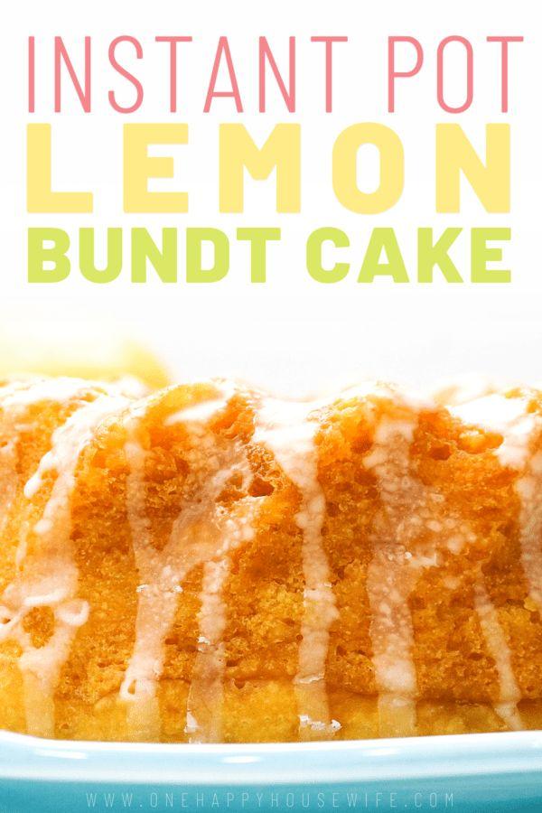 Dieser Instant Pot Zitronenkuchen wird Ihre nächste Dessert-Sucht sein. Diese Stu …   – Pressure cooker