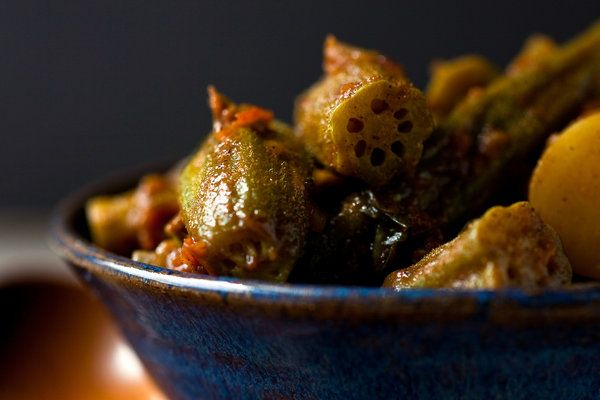 Algerian Okra, Potato and Tomato Tagine