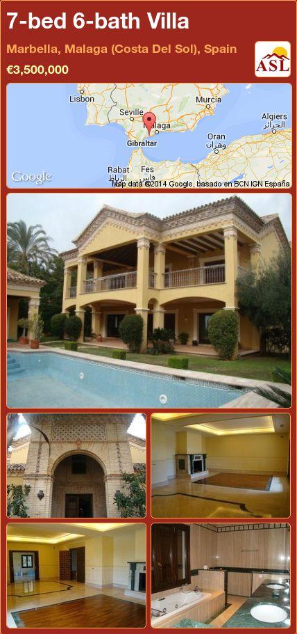 7-bed 6-bath Villa in Marbella, Malaga (Costa Del Sol), Spain ►€3,500,000 #PropertyForSaleInSpain