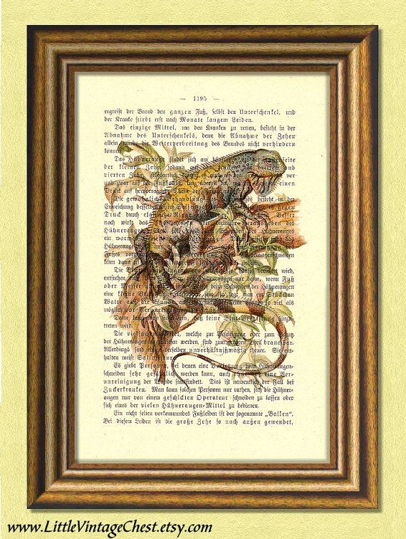 CHAMELEON  Dictionary art print  Nursery art by littlevintagechest, $7.99