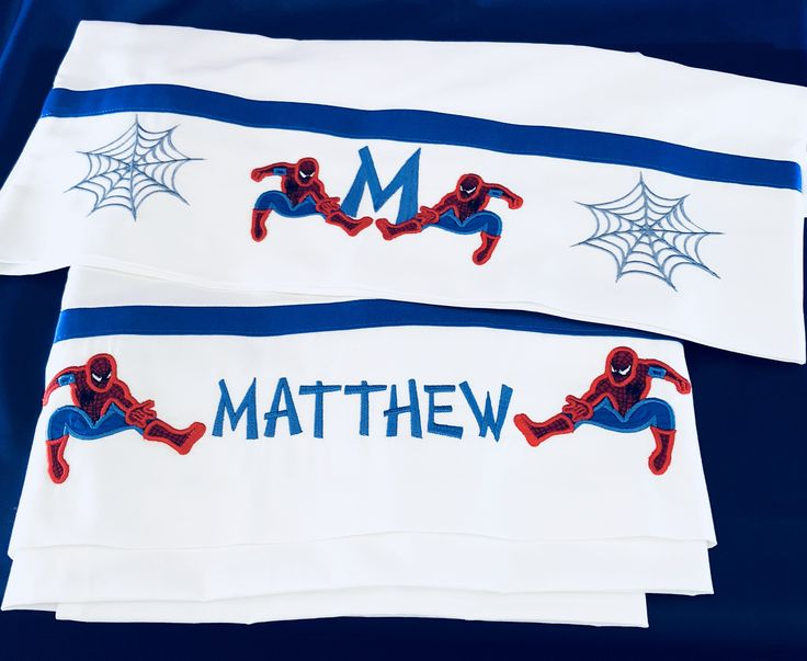 Excited to share the latest addition to my #etsy shop: boys bed sheets, kids bed sheets, spiderman sheets, bed sheets, twin bed sheets, embroidered sheets, personalized sheets,bed sheets for boys http://etsy.me/2Fkms3s #housewares #white #birthday #blue #boysbedsheets