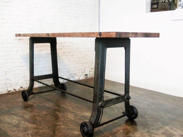 Industrial Table Legs Vintage : Modern Vintage Industrial Table .