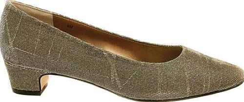 """VANELi Women's Shoes in Platinum Nizza Fabric Color. A low-heeled dress shoe is a must-have in every shoe wardrobe, and you'll love the comfort and fit of the Astyr. Fully lined with a softly padded insole, 1-1/4"""" covered heel, and leather sole with a rubber insert for added flexibility."""