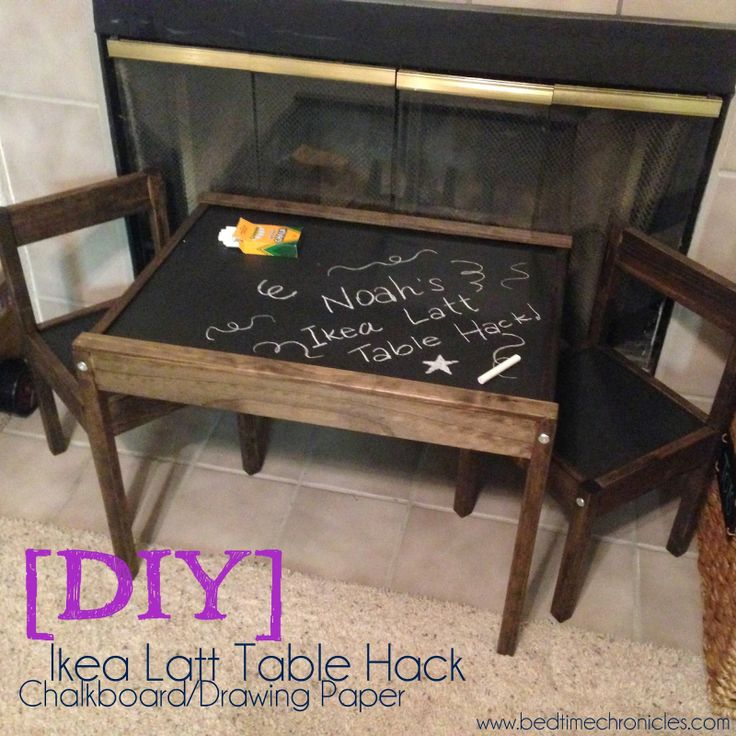Ikea Latt Table Hack - Chalkboard Paint and Drawing Paper