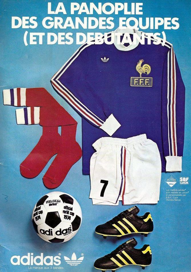 Adidas 1974 La panoplie des granded equipes