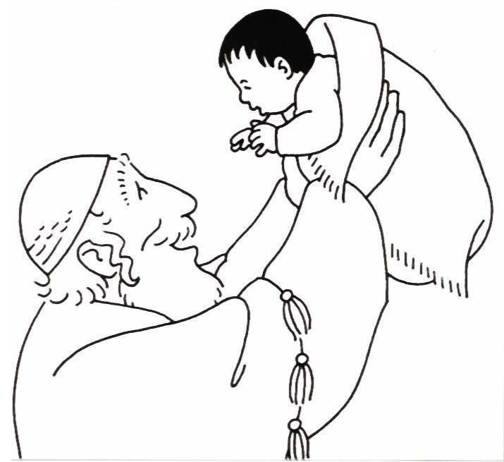 simeon and anna coloring pages - photo#8