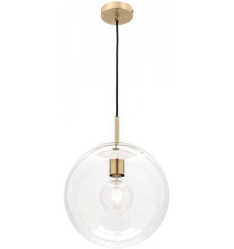 Large Madrid Glass Pendant Light (E27), Brass