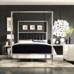 Taraval Black Queen Canopy Bed