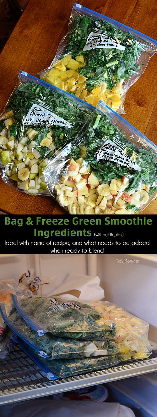 Easy Prep tips for Green Smoothies at TidyMom.net
