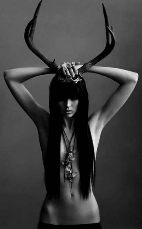 .sometimes i wont pin something great because the girls are too skinny...this is pushin it but i love the light/antlers