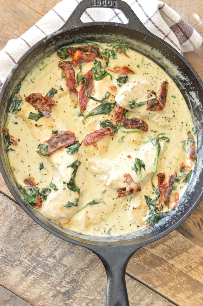 Creamy Tuscan Garlic Chicken is bursting with flavors of garlic, parmesan and garnished with spinach and sun dried tomatoes. I love making something that tastes like I spent a pretty penny to make. You know, the kind of food that could totally be served in a restaurant for a high price. This creamy Tuscan garlic …