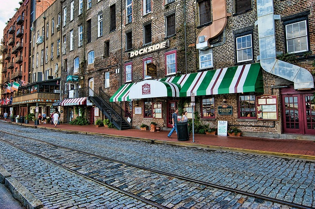 River Street in Savannah, GA by Carolinadoug, via Flickr  One of the best little cities in the U.S. Beautiful, fun and funky.