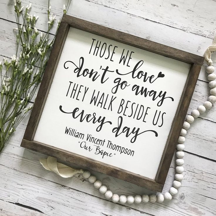 Download Those We Love Don't Go Away Framed Wood Sign- Personalized ...