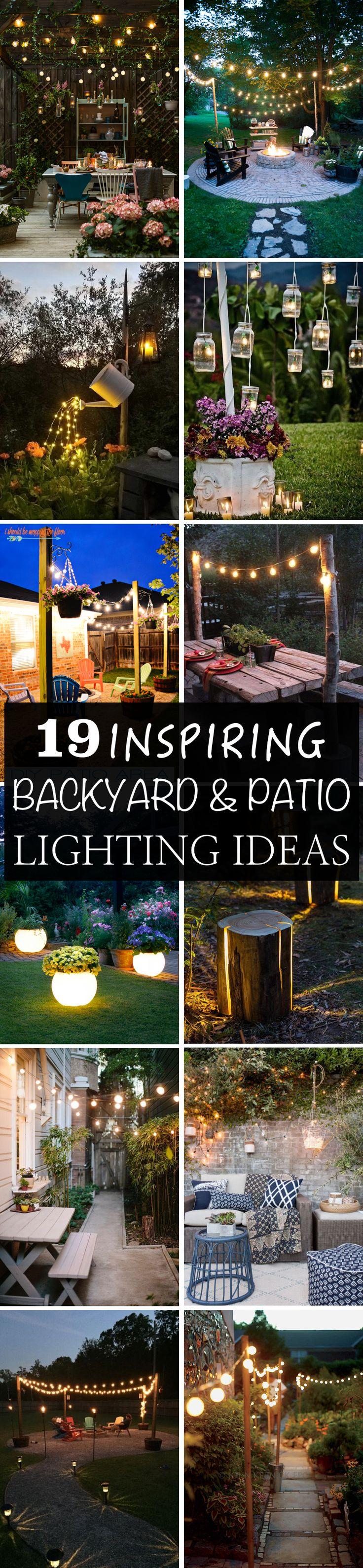 Top 25 best outdoor patio lighting ideas on pinterest for Cheap backyard lighting ideas