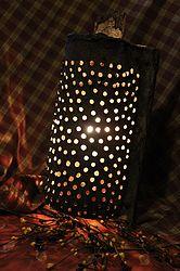 lampada da una vecchissima grattugia recuperata