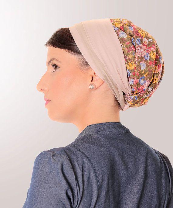 Floral headwear,Womens hair scarf,Hair accessory,Head wrap,Headcovering,Floral head wrap,Floral cute headwear,Floral wide headwear